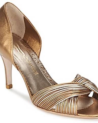 Zlaté sandále Sarah Chofakian