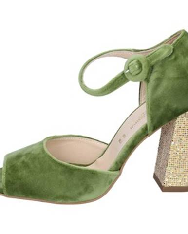 Zelené sandále Olga Rubini