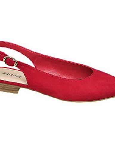 Červené balerínky Graceland
