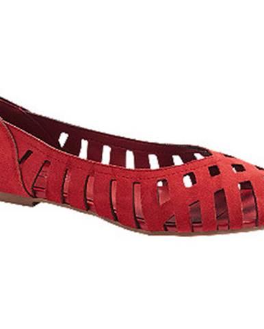 Červené balerínky 5th Avenue