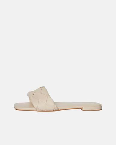 Krémové papuče Vero Moda