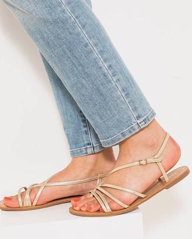 Béžové sandále CAMAIEU