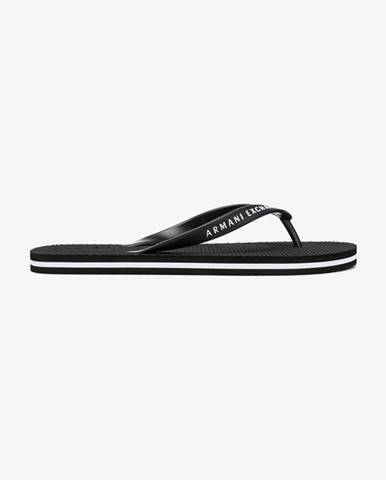 Čierne papuče Armani Exchange