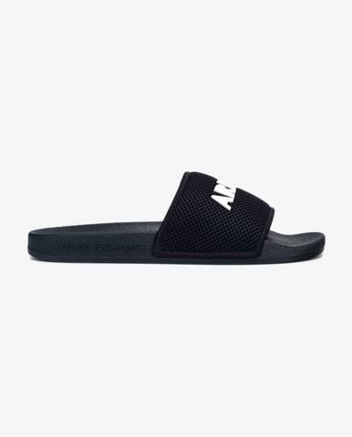 Modré papuče Armani Exchange