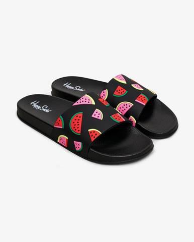 Čierne papuče Happy Socks
