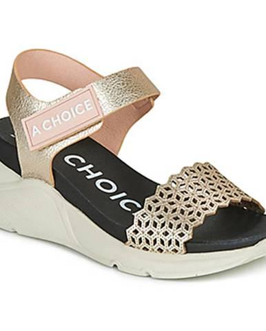 Zlaté sandále Hispanitas